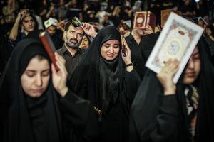 عکس/ مراسم شب قدر در مصلی امام (ره)