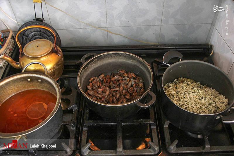 درمان با خوردن جیرجیرک در کرمان