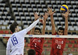 والیبال ایران و روسیه
