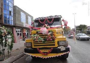 عکس/ ماشین عروس سنگین وزن