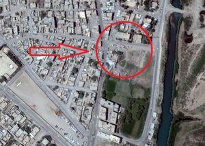 تصاویر ماهوارهای از محل برخورد موشکهای سپاه در دیرالزور