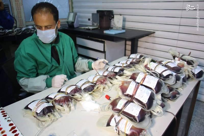 اهدای خون مردم یمن