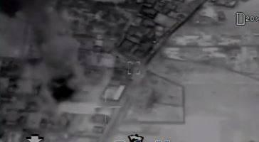 فیلم/ لحظه اصابت موشکهای سپاه به هدف