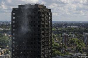 فیلم/ برج گرنفل لندن پس از آتشسوزی