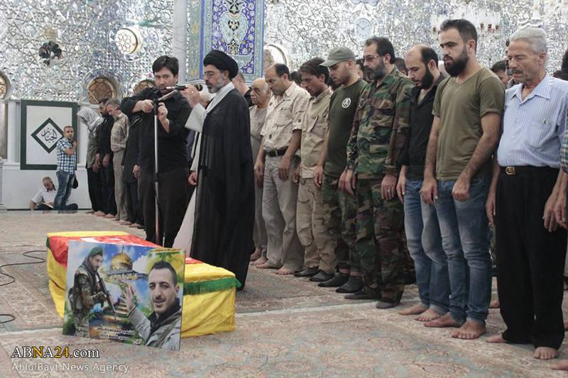 تشییع پیکر شهید سوری مدافع حرم در دمشق