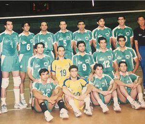 عکس/ یکی از نسل های طلایی والیبال ایران