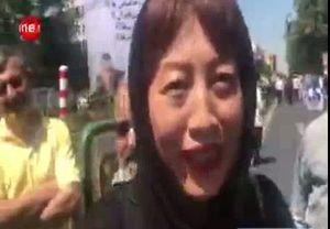 فیلم/ گفتگوی صمیمانه با خبرنگار چينی در روز قدس