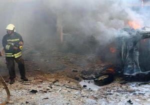 فیلم/انفجار خودروی بمب گذاری شده در عفرین سوریه