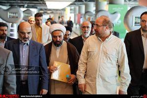 عکس/ بازدید شهردار تهران به همراه جمعی از مسئولان از باغ کتاب تهران