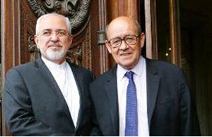 ظریف و وزیر خارجه فرانسه