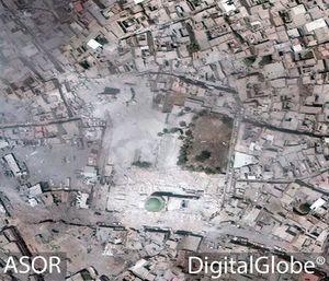 تصاویر ماهوارهای از تخریب مسجد موصل به دست داعش