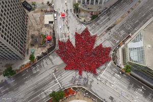 عکس از پرچم کشور کانادا