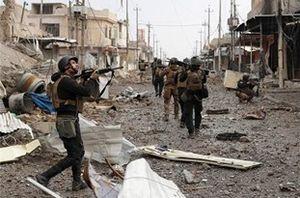 فیلم/ درگیری سنگین با داعش در یکی از مناطق موصل