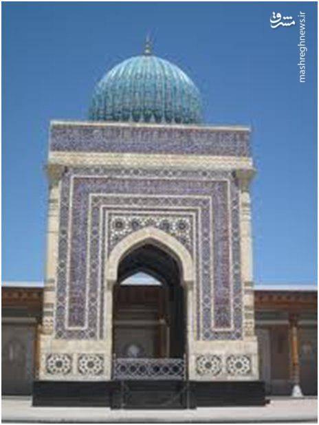 بارگاه امام محمد بخاری و گنبد بالای آن در سمرقند