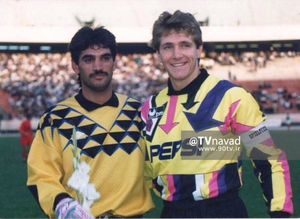 عکس/ غلامپور در کنار گلر تیم ملی آلمان