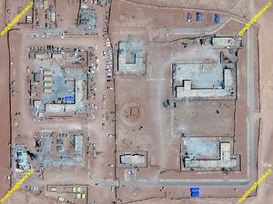 ایجاد پایگاه نظامی آمریکا در جنوب سوریه التنف تصاویر ماهوارهای