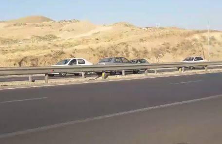 فیلم/ رانندگی خطرناک در خلاف جهت آزادراه تهران پردیس