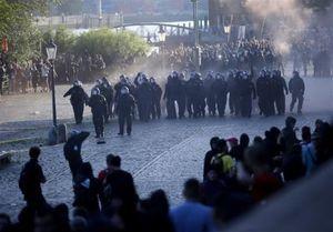 فیلم/ درگیری شدید پلیس آلمان با معترضان نشست گروه ۲۰