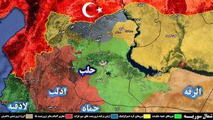 نقشه استان حلب