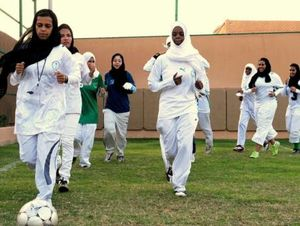 زنان عربستان چگونه به ورزشگاه میروند؟