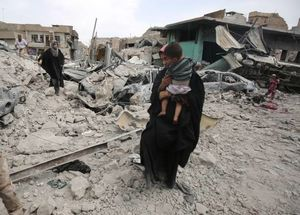 نجات غیر نظامیان از دست داعش