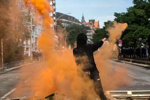 عکس/ تشدید درگیریها در هامبورگ