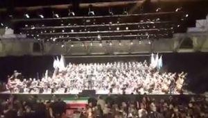 فیلم/ اجرای غرور آفرین سرود ملی ایران در ایتالیا