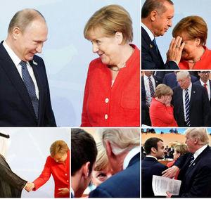 عکس/ عکسالعملهای عجیب مرکل در اجلاس جی 20