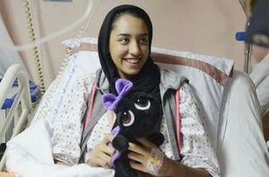 عکس/ کیمیا علیزاده پس از عمل جراحی
