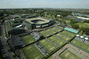 عکس/ محل برگزاری تنیس ویمبلدون از نمایی زیبا