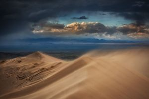 عکس/ طوفان شن در قزاقستان