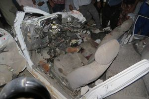 عکس/ ۶ کشته در تصادف پراید با اتوبوس