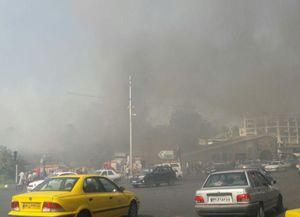 اطفا حریق مغازه در میدان قدس