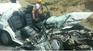 عکس/ 7کشته در تصادف خودروی پراید با کامیون