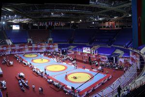 عکس/ سالن کشتی مسابقات قهرمانی جهان در پاریس