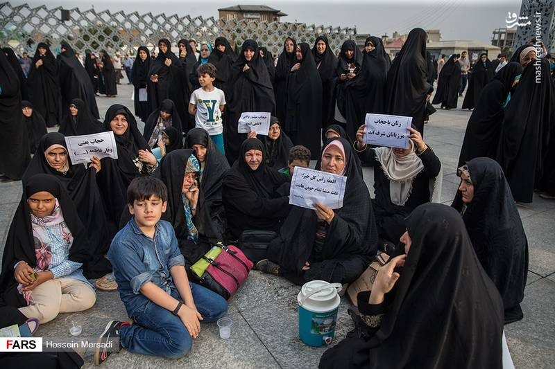 مراسم روز عفاف و حجاب در میدان امام حسین (ع)