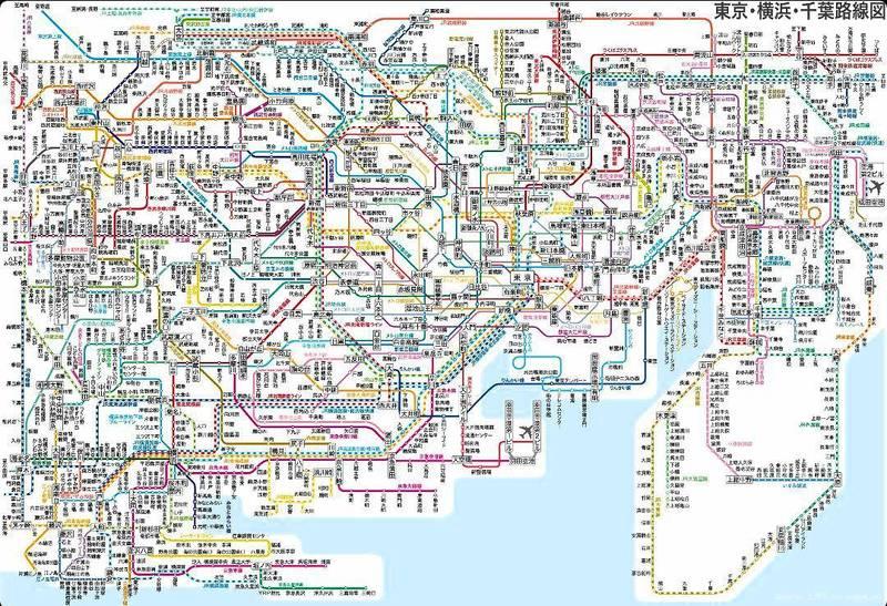 نقشه متروی پایتخت ژاپن