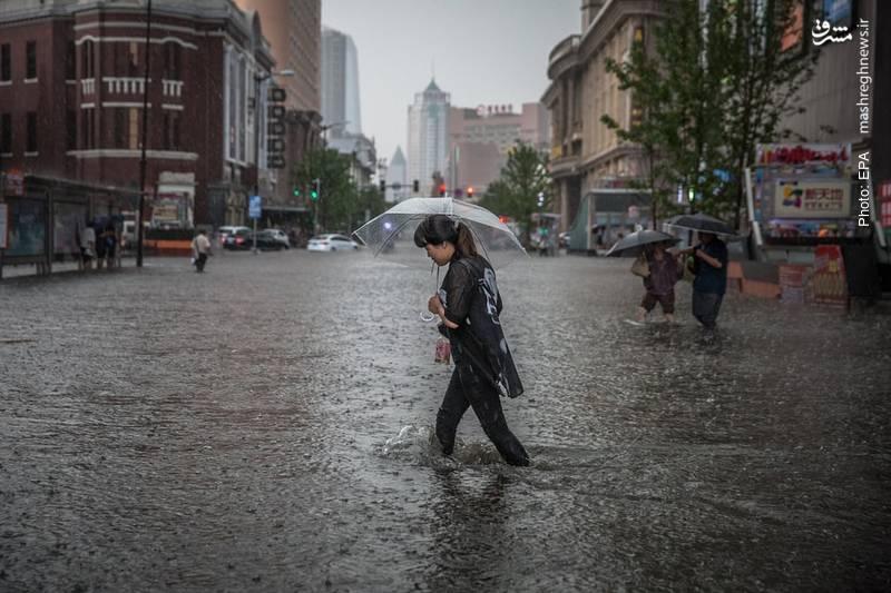 باران سیلآسا در چین