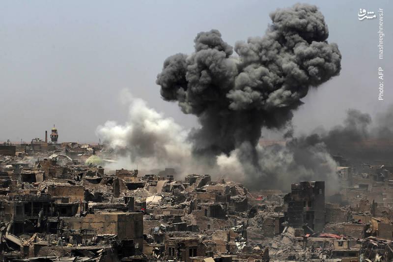 بمباران هوایی موصل، کمک شایان توجه (!) واشینگتن به آزادی این شهر