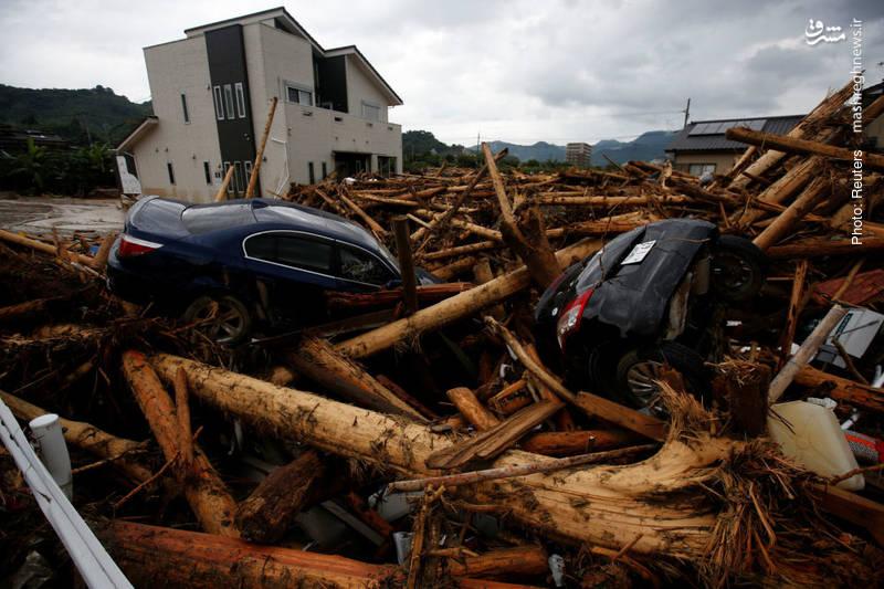 خسارات باران و سیل ویرانگر در ژاپن