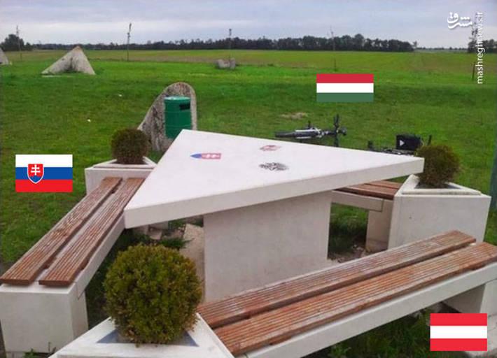 مرز مشترک میان کشورهای اسلواکی،اتریش،مجارستان