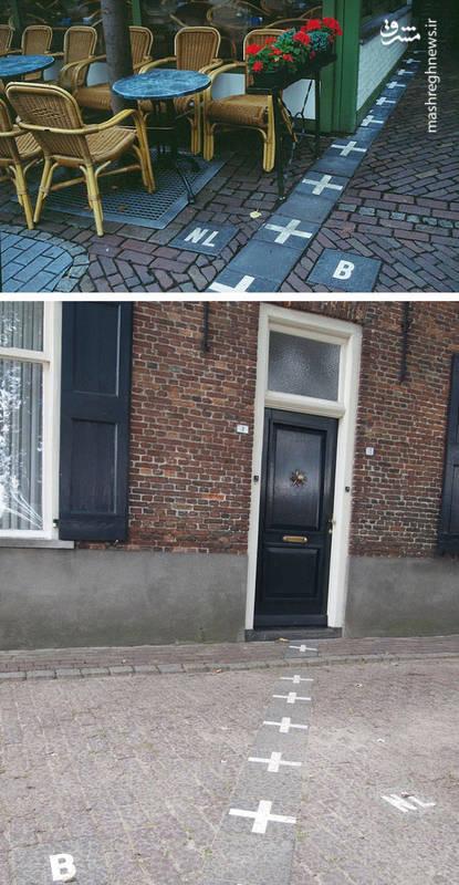 مرز مشترک میان کشورهای هلند و بلژیک