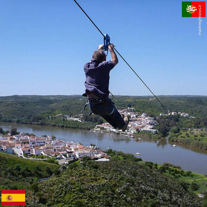 مرز مشترک میان کشورهای اسپانیا و پرتغال
