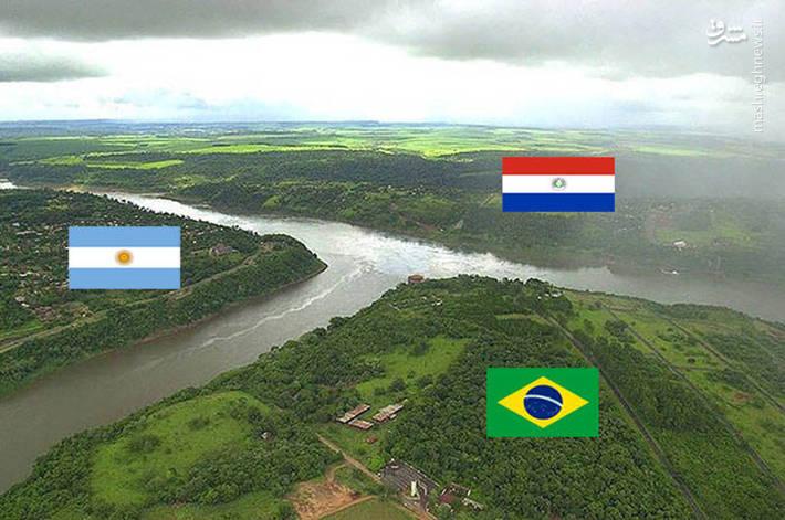 مرز مشترک میان کشورهای آرژانتین،برزیل،پاراگوئه