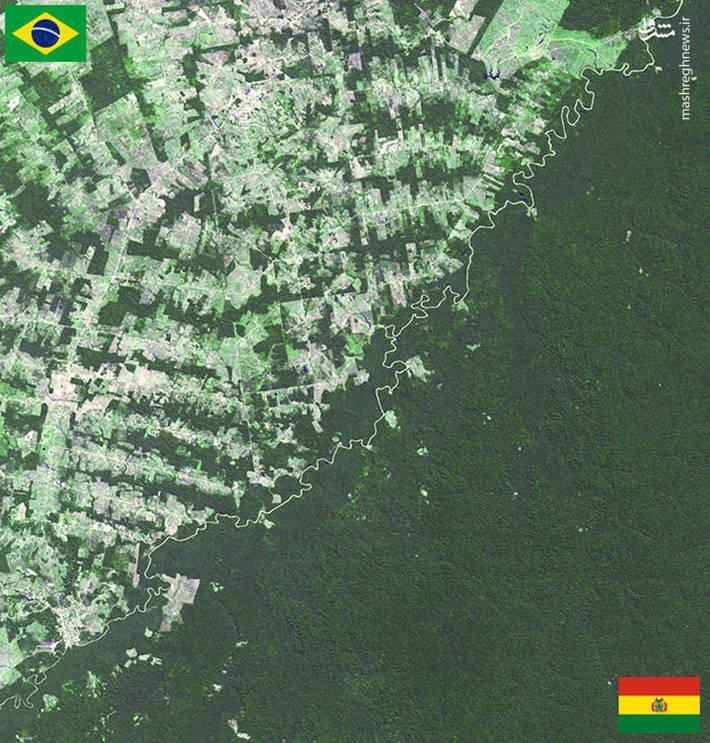 مرز مشترک میان کشورهای برزیل و بولیوی