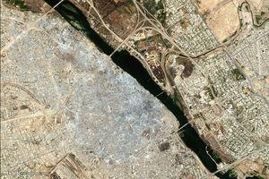 تصاویر هوایی از موصل، قبل و بعد از حضور داعش