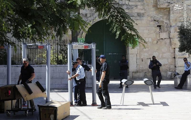 عکس/ تدابیر امنیتی در مقابل مسجدالاقصی