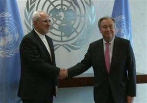 ظریف با دبیرکل سازمان ملل