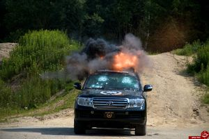 فیلم/ تست خودرو محافظت از شخصیتها