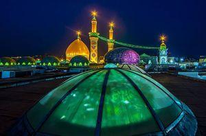 عکس/ نمایی دیدنی از گنبد حرم حضرت ابوالفضل(ع)